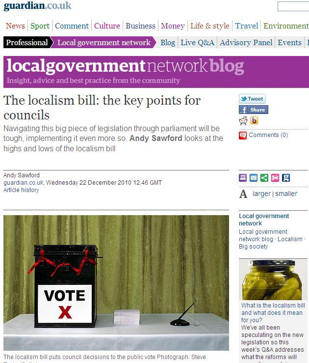 The localism bill: the key points for councils