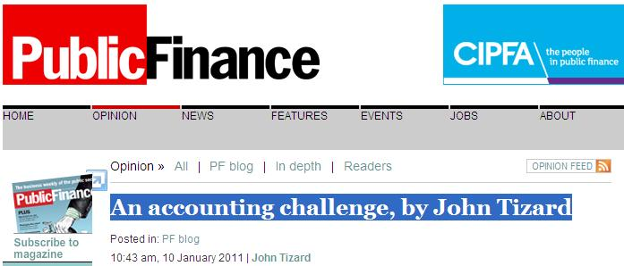 An accounting challenge, by John Tizard