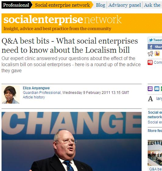 What social enterprises need to know about the Localism bill